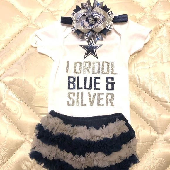 hot sale online 7cdb0 e0254 Dallas Cowboys BABY GIRL Outfit NWT